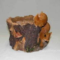 Кашпо - Дерево с белкой  19 см НР101048