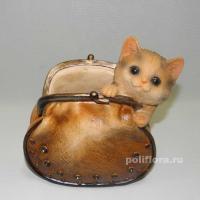 Кашпо - Кошелек с котенком  18 см  HP091160