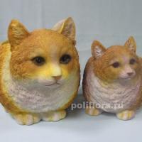 Кашпо - Кошка рыжая бол.  25 см  HA9020-7-1L; Кашпо - Кошка рыжая мал. 17 см НА9020-7-1S