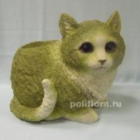 Кашпо - Кошка серая сред.  22 см  HA9020-7-2M