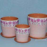 Керам.набор Лето розовый тополь х3