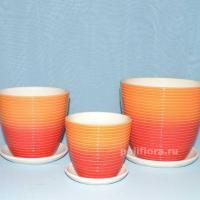 Керам.набор Радуга оранжево-красный крокус х3