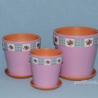 Керам.набор Уют розовый клен  х3