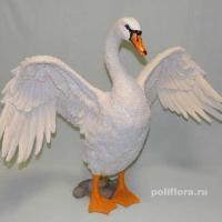 Лебедь с распах.крыльями 62 см 6234W