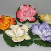 лилия, плавающие, пластик, легкий, цветные, для пруда, для воды, белый, синий, розовый, оранжевый, зеленый, красивый, маленький