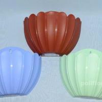 Настенное кашпо Марго терракотовый, салатовый, голубой