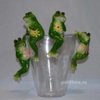Подвес - Лягушки с цветами  12 см  ALP330092