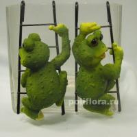Подвес - Лягушки  на лесенке  пара   SZ0211-5