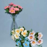 Троица, искусственные цветы, красивые, недорого, цветы на кладбище, декор,пасха, ритуальные цветы, букеты искусственные, камелия