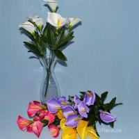 Калла, троица, искусственные цветы, красивые, недорого, цветы на кладбище, декор,пасха, ритуальные цветы, букеты искусственные