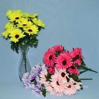 Гербера Троица, искусственные цветы, красивые, недорого, цветы на кладбище, декор,пасха, ритуальные цветы, букеты искусственные