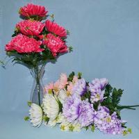 Хризантема, Троица, искусственные цветы, красивые, недорого, цветы на кладбище, декор,пасха, ритуальные цветы, букеты искусственные