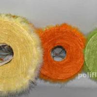 QY96785С-25 Каркас для букета желтый ф25 см, 20 см, оранжевый, зелёный, белый