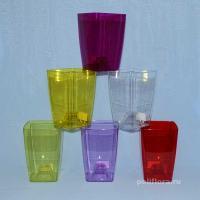 Сильвия кашпо прозрачный, прозрачный желтый, прозрачный красный, прозрачный зеленый,  прозрачныйтемно-фиолетовый, прозрачный фиолетовый