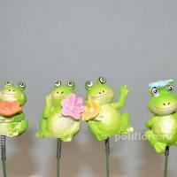 Стикер - Лягушки  с цветочками 4 см KXY14A5835