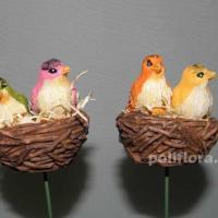 Стикер - Птички в гнезде KXY13A5135