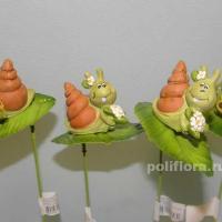 Стикер - Улитки с цветочками KXY11A5746