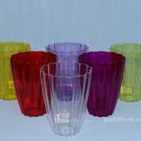 Тюльпан кашпо  прозрачный, прозрачный желтый,прозрачный зеленый. прозрачный красный, прозрачный темно-фиолетовый, прозрачный фиолетовый