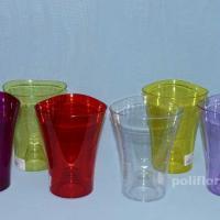 Волна кашпо орхидейная прозрачный, прозрачный желтый, прозрачный зеленый, прозрачный красный, прозрачный темно-фиолетовый, прозрачный фиолетовый
