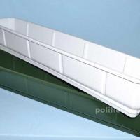 Ящик для цветов с подставкой Дама мрамор, зеленый