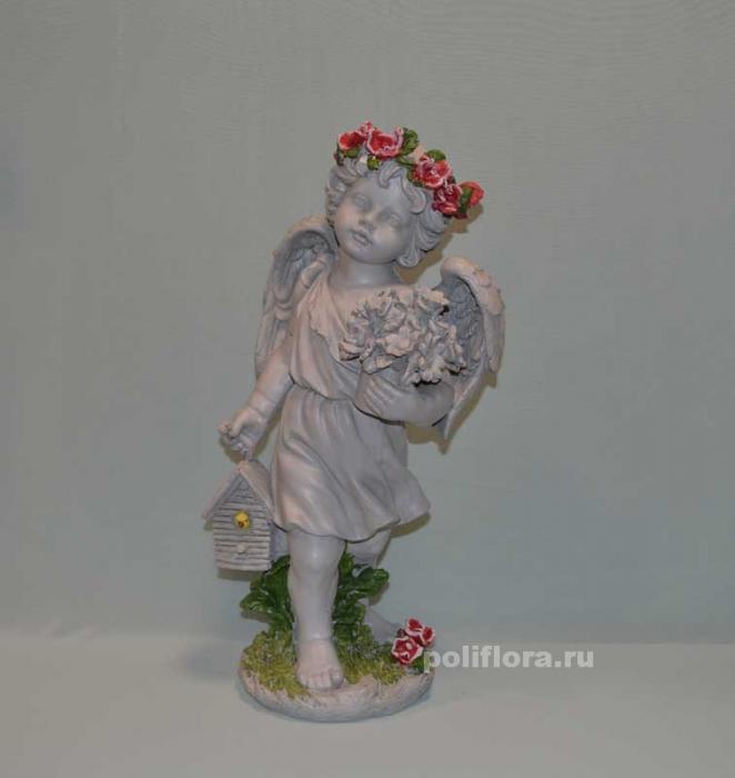 Ангел с розами и скворечником  50 см OY145-98119МА