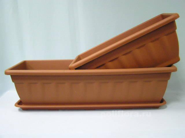 Балконное кашпо Кассиопея с подст. 40, 50, 60