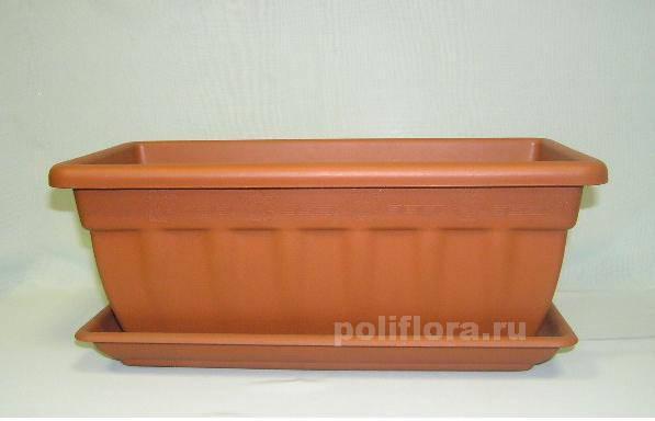 Балконное кашпо Кассиопея с подст. 40 см, 50 см, 60 см