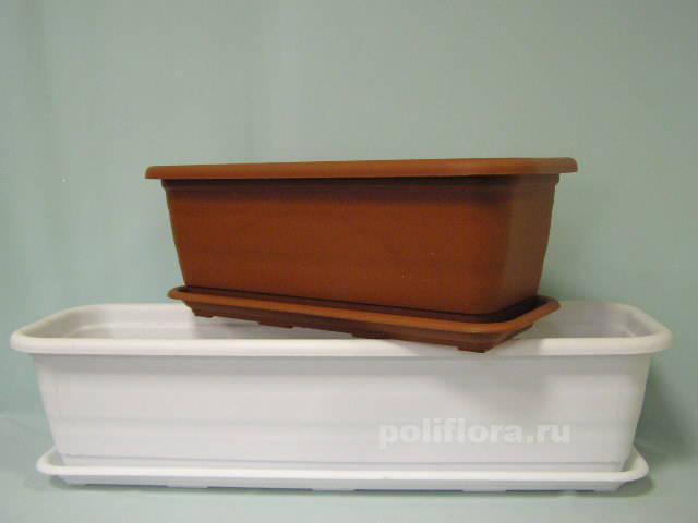 Балконное кашпо Ламела 40 см, 60 см, 80 см, 100 см