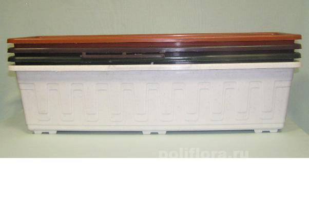 Балконное кашпо стандартное 40 см, 50 см, 60 см, 80 см, 100 см