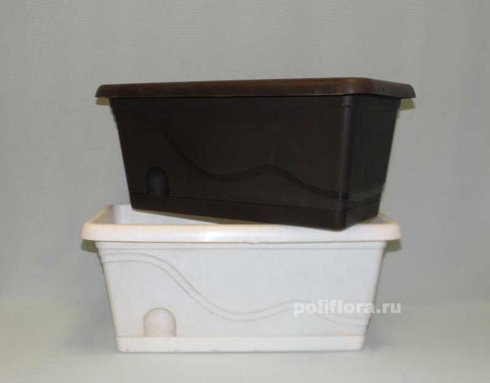 Балконное ящик Титаник с подст. 40 см, 50 см, 60 см, 80 см.