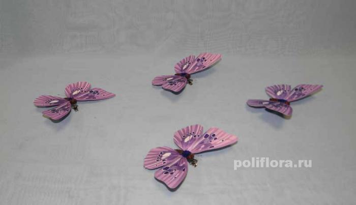 Декор-Бабочки 13 см (бумага-клипса) 0261-13
