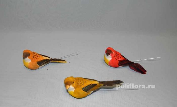 Декор-Птички 10 см 12 шт. уп. (перопроволока) 2133-10