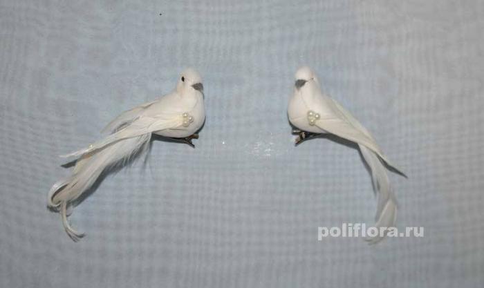 Декор-Птички 11,5 см (перо-клипса) 0458-11,5