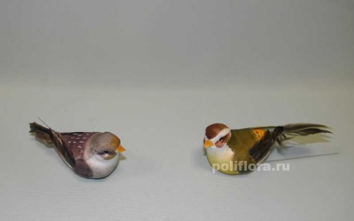 Декор-Птички 11,5 см (перо-проволока) 2061-11,5