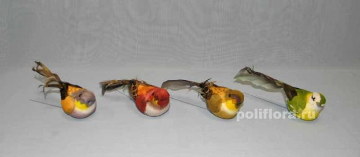 Декор-Птички 11,5 см (перо-проволока) 2423-11,5