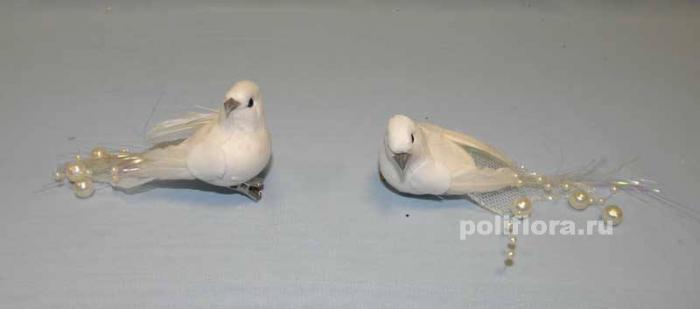 Декор-Птички 11 см (перо-клипса) 0459-11