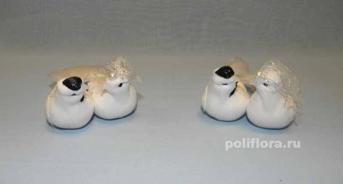 Декор-Птички 11 см (перо-проволока) 0175-11