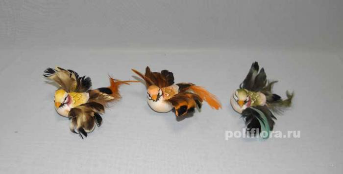 Декоративные птички из перьев своими руками 176