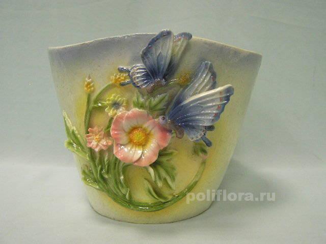 Кашпо - Бабочки  16 см  HA08142
