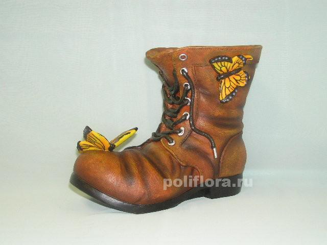 Кашпо - Башмак с бабочкой 25 см HA9007-1LN