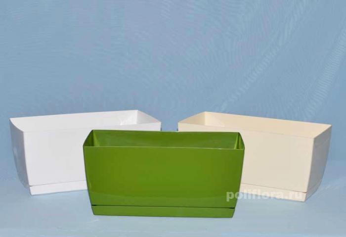 Коуби прямоугольное с поддном белый, кремовый, оливковый