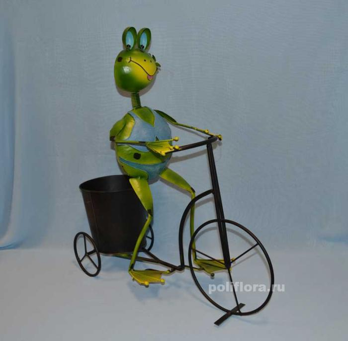Лягушка на велосипеде 55 см мет. NA314A042