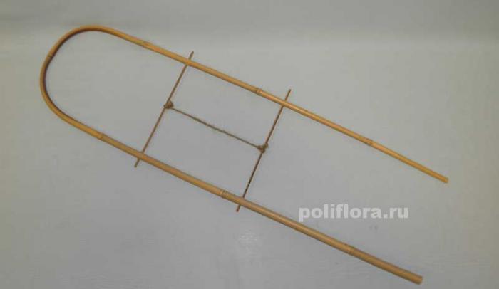 Палка бамбуковая шпилька-решетка 60 см
