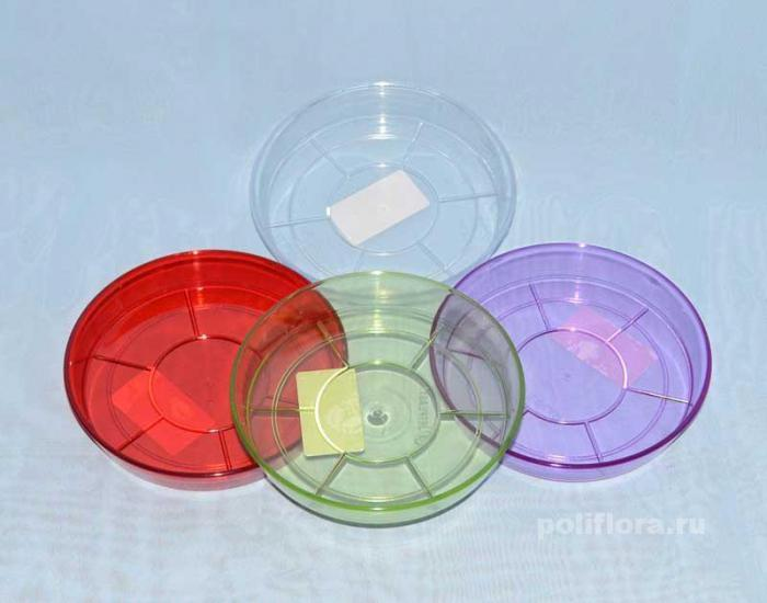 Поддон прозрачный, прозрачный зеленый, прозрачный красный, прозрачный фиолетовый