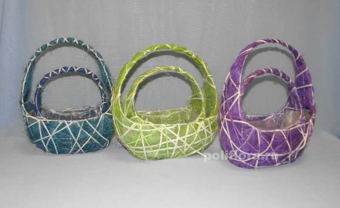 QY10В393 Корзина (ротанг,сизаль) х2; QY11А124 Корзина (ротанг,сизаль) х2 зеленый; QY10В373 Корзина (ротанг,сизаль) х2