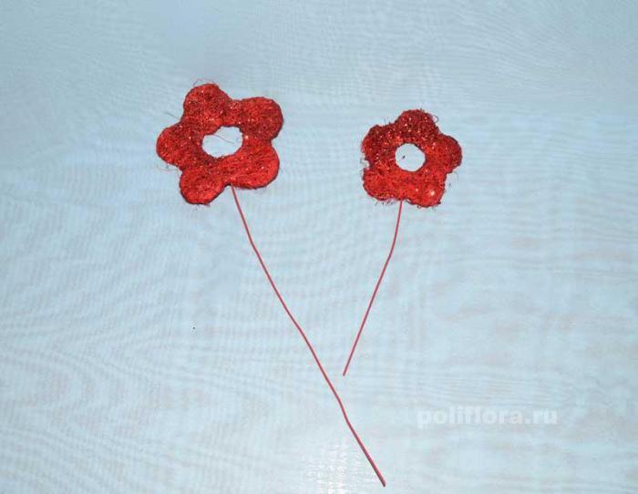 QY87431  Стикер цветок,  QY87432  Стикер цветок
