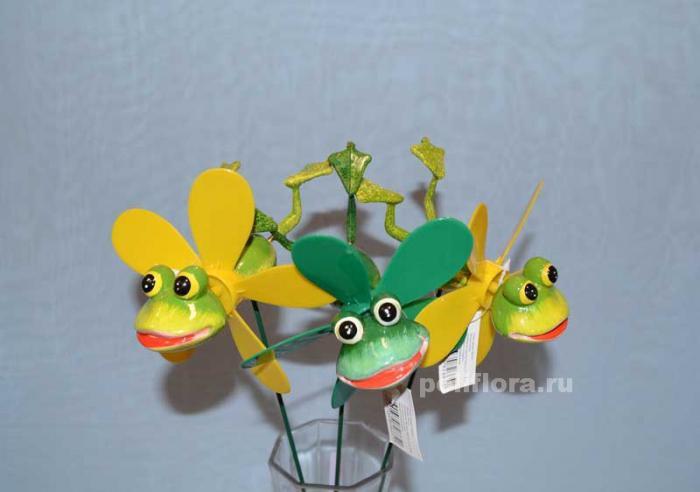 Стикер - Лягушки с вертушкой 1826-65